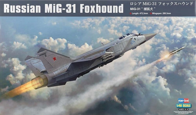 1/48 Russian MIG-31 Foxhound Plastic Model Kit