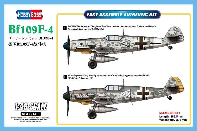 1/48 Messerschmitt Bf109F-4 Plastic Model Kit