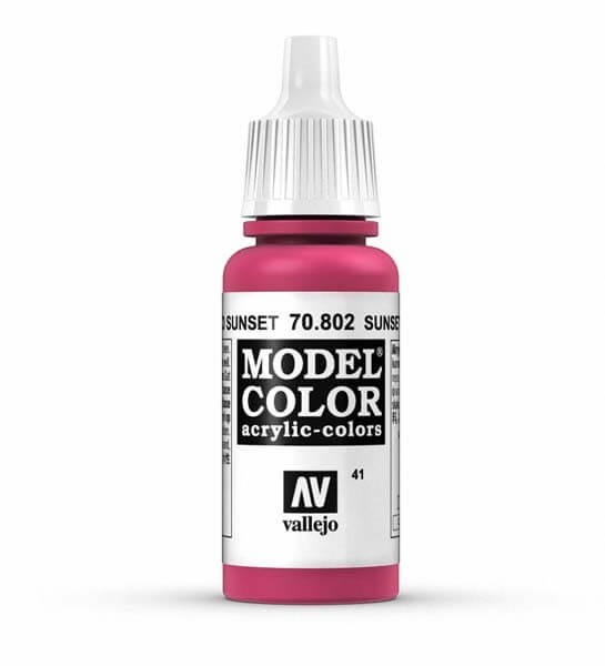 Sunset Red Model Color 17ml Acrylic Paint