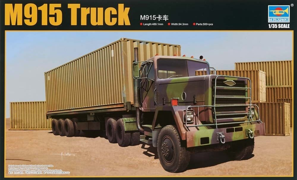 Trumpeter 1:35 US M915 Army Truck w/Container Plastic Model Kit