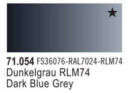 Dark Grey Blue Model Air Color 17ml Bottle Paint