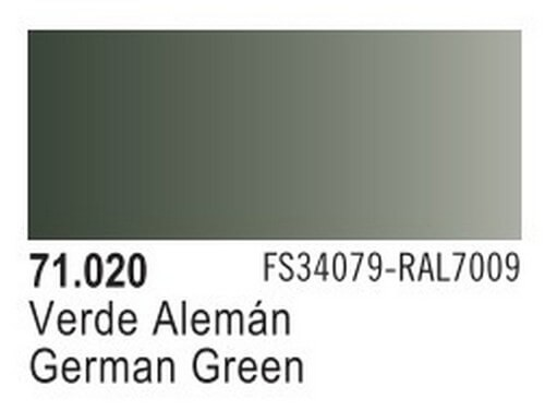 German Green Model Air Color 17ml Bottle Paint