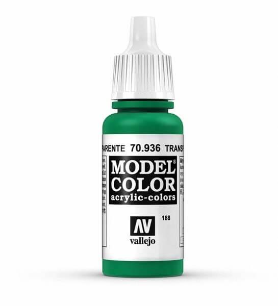 Transparent Green Model Color 17ml Acrylic Paint