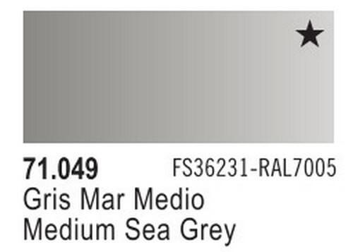 Medium Sea Grey Model Air Color 17ml Bottle Paint