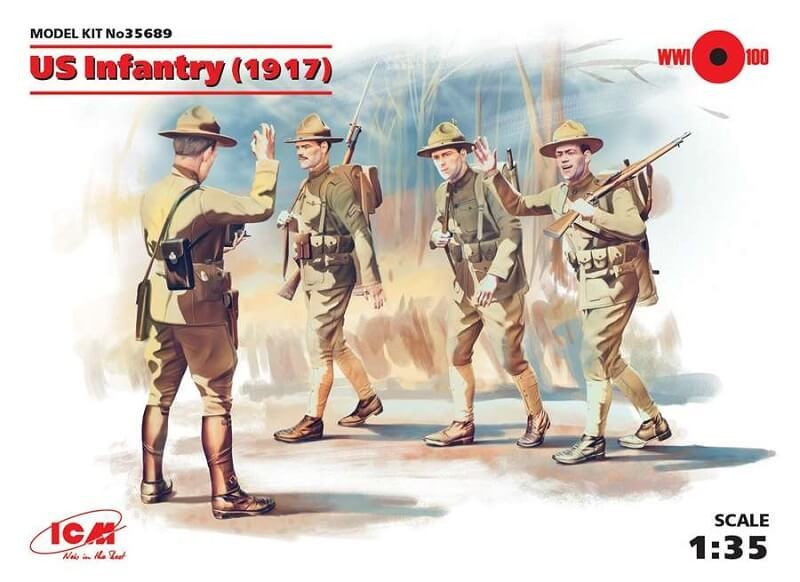 1/35 US Infantry (1917) Plastic Model Kit