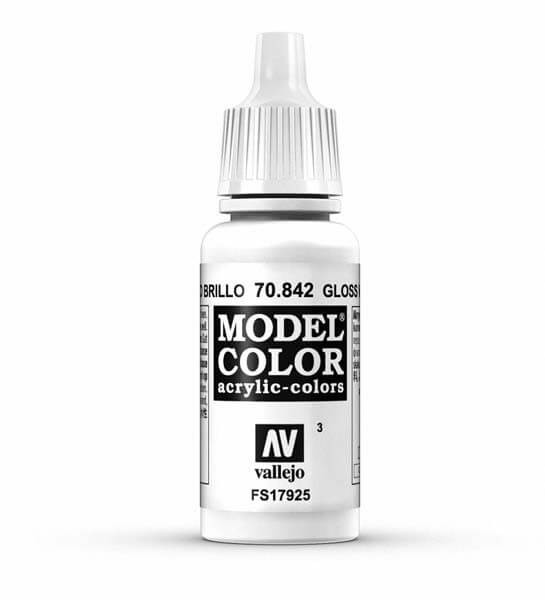 Glossy White Model Color 17ml Acrylic Paint