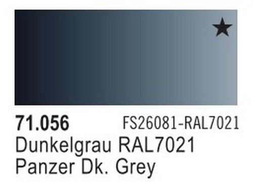 Panzer Dark Grey Model Air Color 17ml Bottle Paint