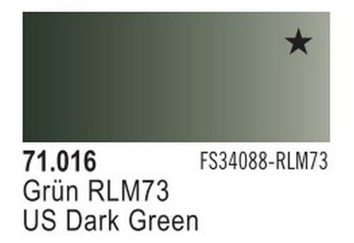 US Dark Green Model Air Color 17ml Bottle Paint