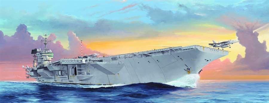 1:350 USS Kittyhawk CV-63 Aircraft Carrier Plastic Model Kit