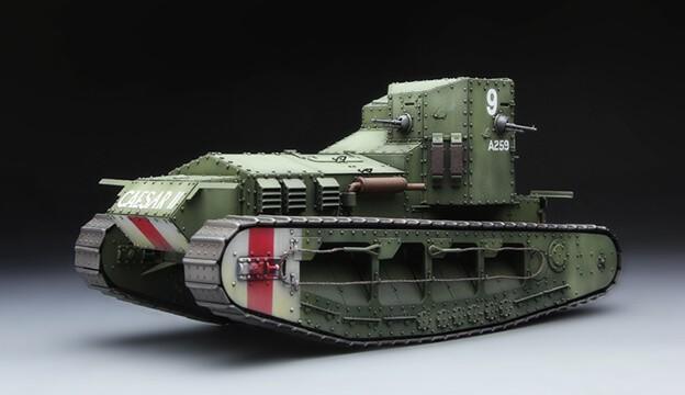 1/35 British Medium Tank Mk.A Whippet Plastic Model Kit
