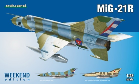 1/48 MiG21R Fighter Plastic Model Kit