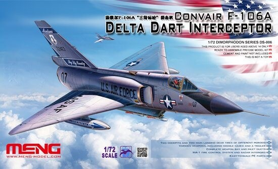 1/72 Convair F-106A Delta Dart Interceptor Plastic Model Kit