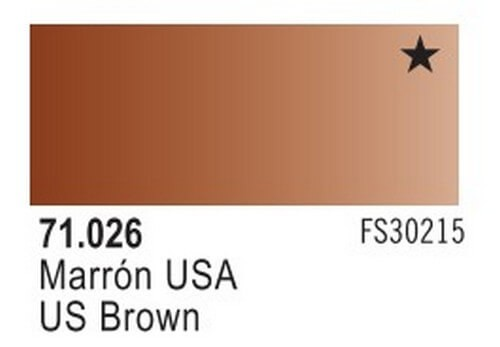 US Flat Brown Model Air Color 17ml Bottle Paint