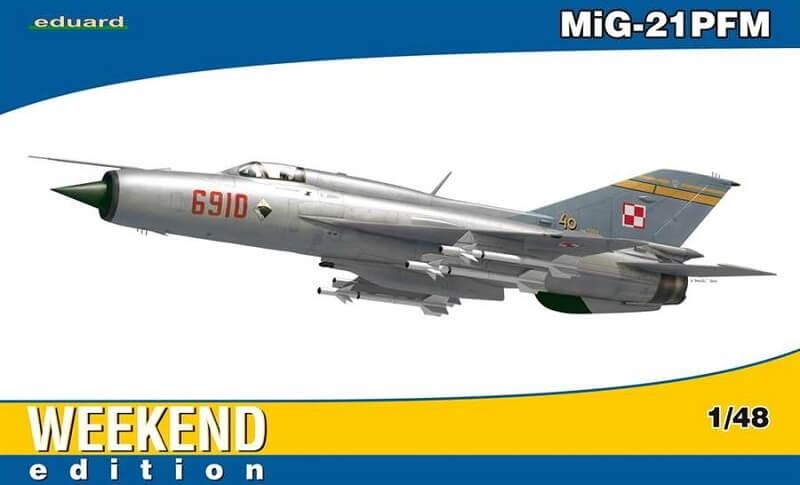 1/48 MiG21PFM Fighter Plastic Model Kit