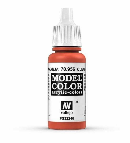 Clear Orange Model Color 17ml Acrylic Paint