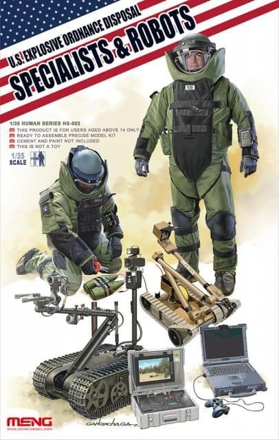 1:35 US Explosive Ordnance Disposal Specialists Model Kit