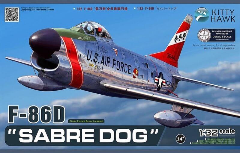 1/32 F-86D Sabre Dog Plastic Model Kit
