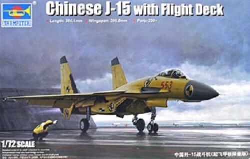 1/72 Chinese J-15 W/ Flight Deck Plastic Model Kit