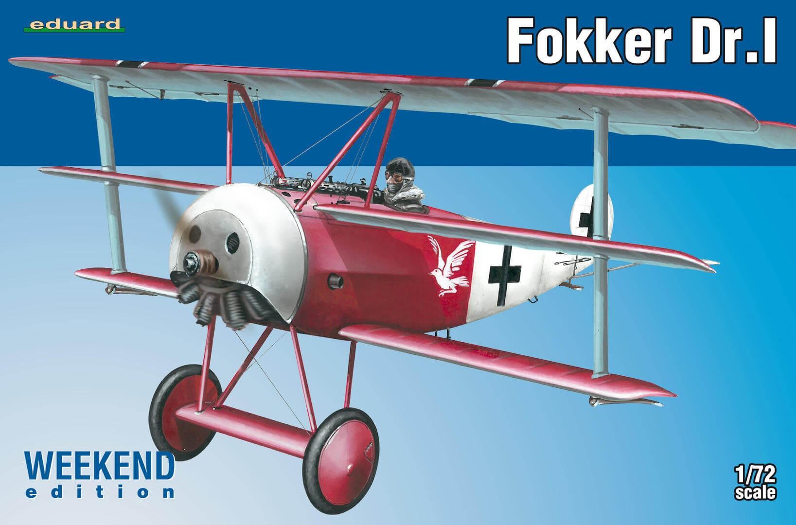 1:72 Fokker DR.I Triplane Plastic Model Kit