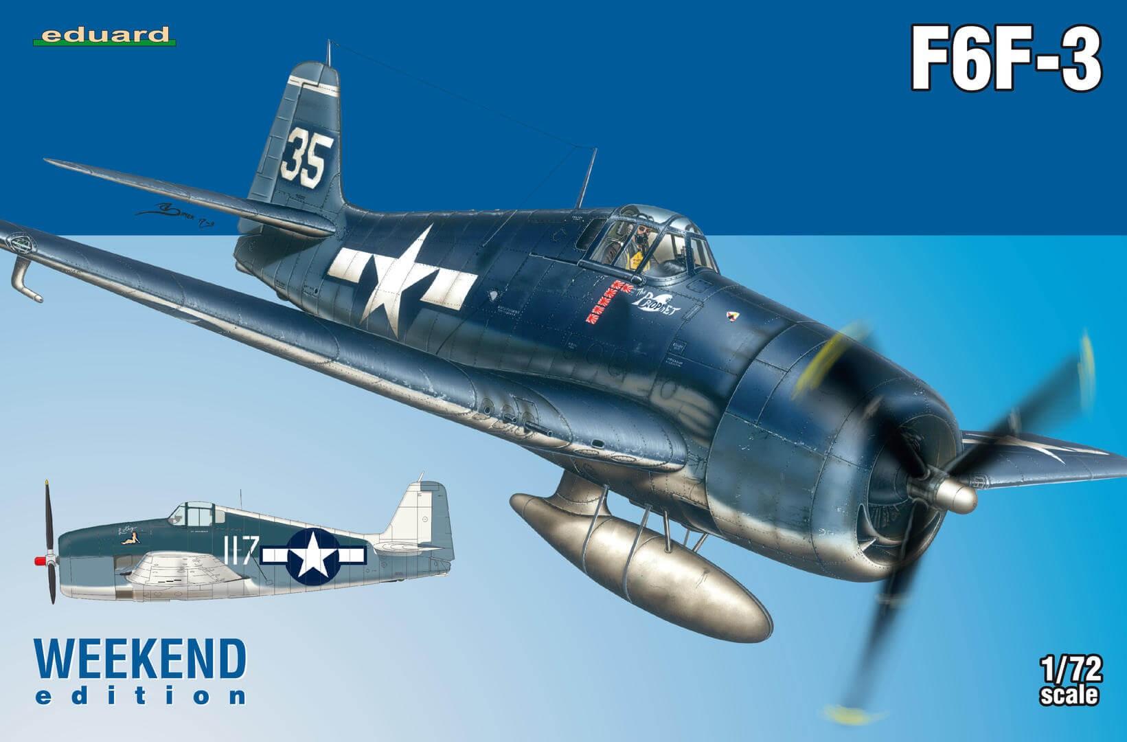1:72 F6F-3 Hellcat Weekend Edition Plastic Model Kit