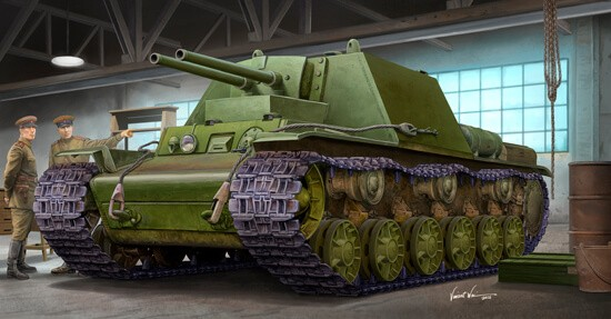 1/35 Soviet KV-7 Object 227 Tank Plastic Model Kit