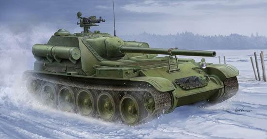 1/35 Soviet Su-101 Self-Propelled Artillery Tank Plastic Model Kit