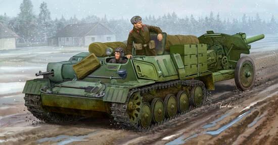 1/35 Soviet AT-P Artillery Tractor Plastic Model Kit