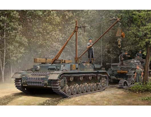 1/35 German Bergepanzer IV Recovery Vehicle Plastic Model Kit