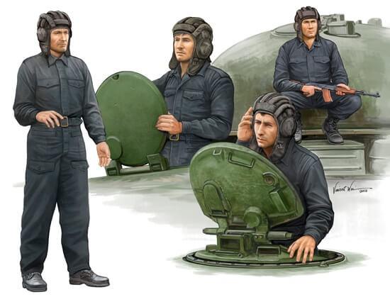 1/35 Soviet Tank Crew Plastic Model Set