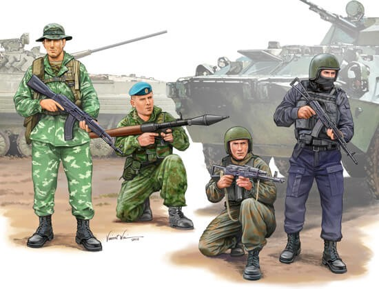 1/35 Russian Special Ops Plastic Figure Set