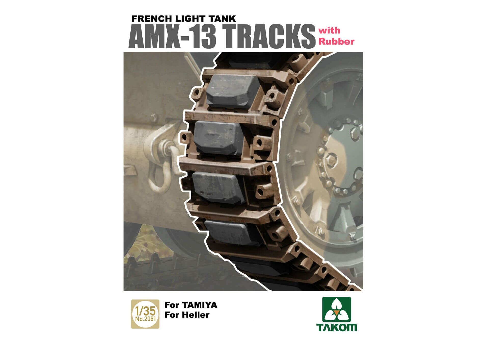 1/35 French AMX-13 Tracks with Rubber Plastic Model Kit