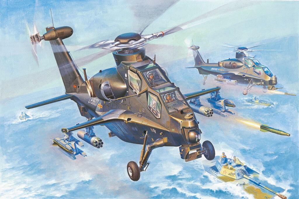 1/72 WZ-10 Thunderbolt Helicopter Plastic Model Kit