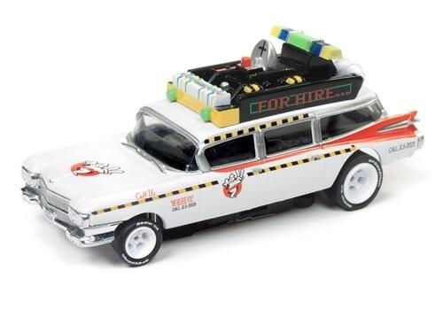 Auto World HO Ghostbusters Ecto-1A 4Gear Slot Car