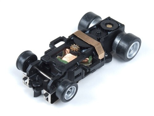 Auto World 4-Gear Built Slot Car Chassis