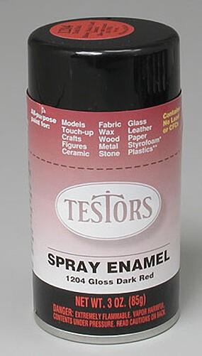 Testors Gloss Dark Red Enamel Spray Paint 3oz | Mark Twain ...