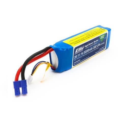 3000mAh 3S 11.1V 30C LiPo 12AWG EC3 Connector