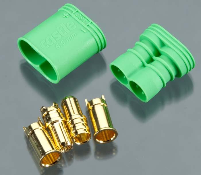 6.5mm Castle Connector Polorized Bullet Pair