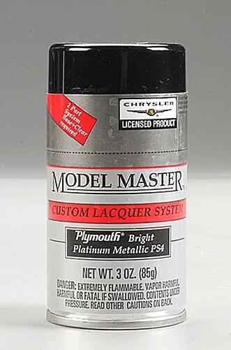 Bright Platinum 3oz Lacquer Spray Paint