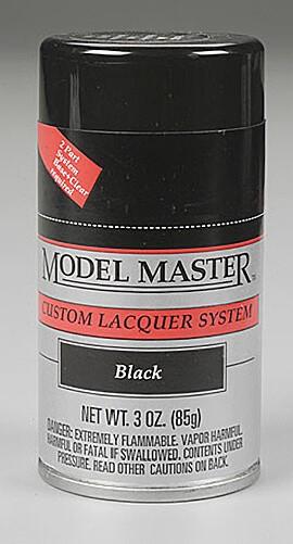 Black 3oz Lacquer Spray Paint