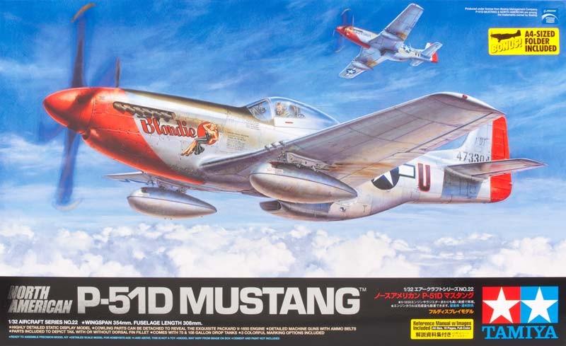 1:32 North American P-51D Mustang Model Kit