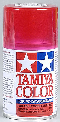 Tamiya PS-37 Translucent Red Poly-carbonate Spray Paint