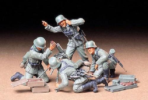 Tamiya 1/35 German Infantry Mortar Team Plastic Model Kit 35193