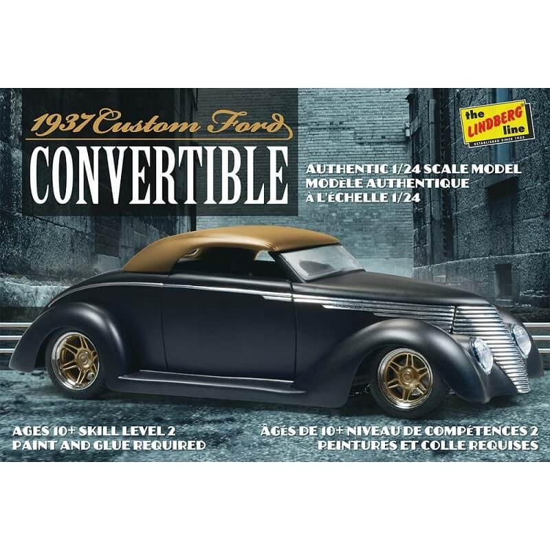 1:24 1937 Ford Custom Convertible Plastic Model Kit