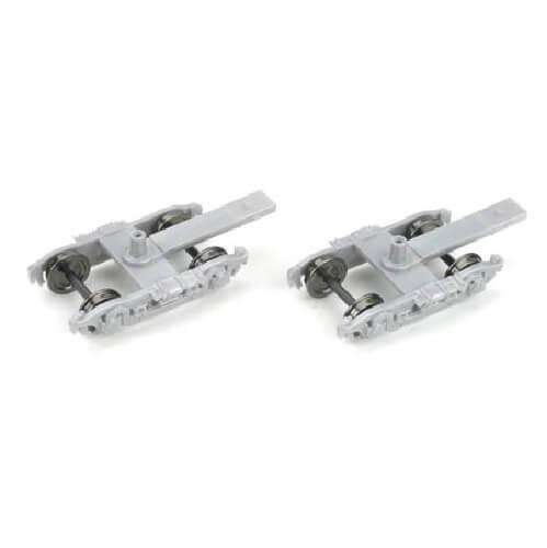 HO 4-Wheel (Silver) PassengerTrucks w/ 36 Metal Wheels (1 Pair)