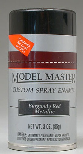 Burgundy Red Metallic 3oz Enamel Spray Paint