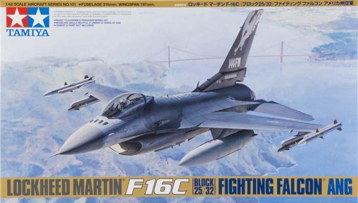 Tamiya 1/48 Lockheed F-16C Falcon Plastic Model Kit