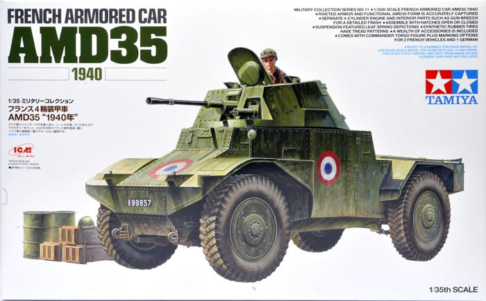 1/35 French Armored Car AMD35 1940 Plastic Model Kit