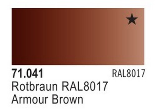 Armour Brown Model Air Color 17ml Bottle Paint