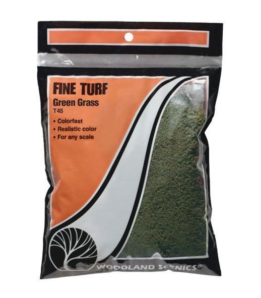 Woodland Scenics Fine Turf Green Grass 12 oz