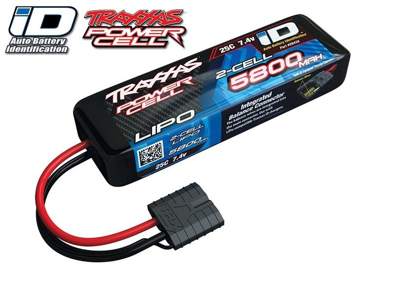 Traxxas 5800mAh 7.4v 25C LiPo Battery w/Traxxas ID